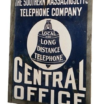 Southern Massachusetts Telephone Central Office Sign - Signs