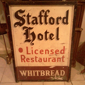 Old Stafford Hotel Whitbread sign - Signs