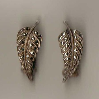Silver & Marcasite Earrings - Fine Jewelry