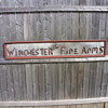 winchester fire arms wood sign