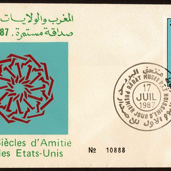 "1987 - ""U.S./Morocco Relations"" First Day Cover - Morocco"