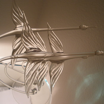 Canadian Geese sculpture - Art Glass