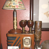 Trench Art Lamp and Glasses