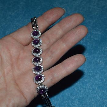 Amethyst bracelet - Costume Jewelry