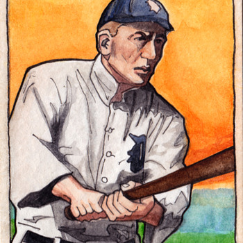 Handmade Ty Cobb Baseball card - Visual Art