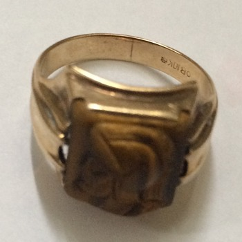 Vintage Carved Catseye Ring - Fine Jewelry