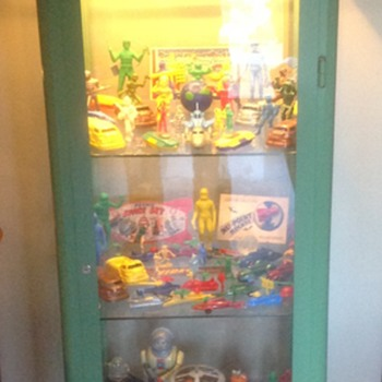 Collection of all my 1950s plastic space toys