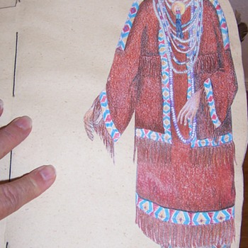 hand made Native American woman paper doll book - Paper