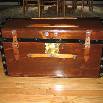 Small Antique Child Size Trunk