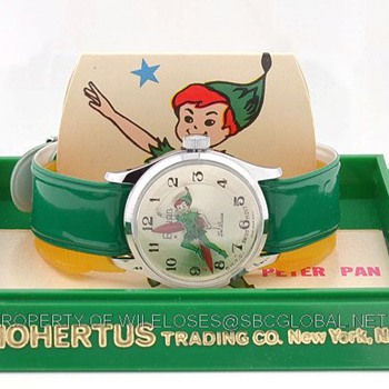 1970's Peter Pan Wrist Watch in Box by Rouan / Mohertus Trading Co. - Wristwatches