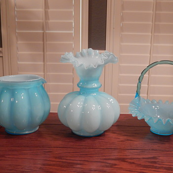 Fenton blue overlay collection