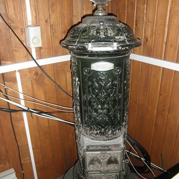 vintage antique Aurora cast iron stove