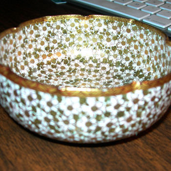 Satsuma pinch bowl Thousand flower design