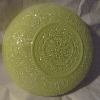 Fired-On Lime Green Bowl - Anchor Hocking Sandwich