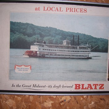 VINTAGE BLATZ BAR SIGN - Breweriana