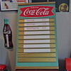 1959 metal & masonite Coca Cola Menu Board