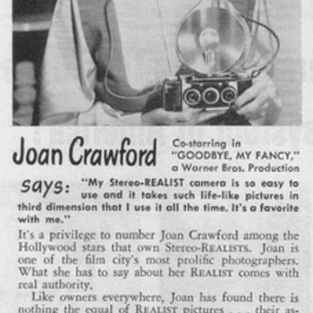 1951 - Realist Stereo Camera Advertisements