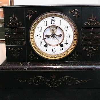 SETH THOMAS MARBLE MANTEL CLOCK - Clocks