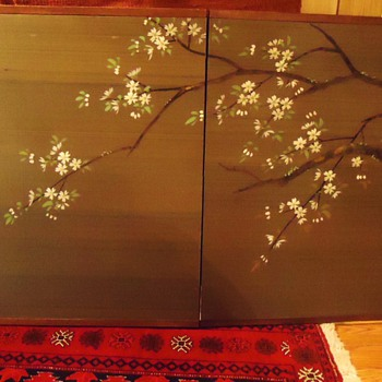 Japanese double screen, Spring and Autumn, turn every 6 months!