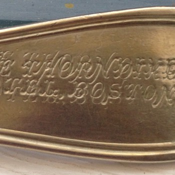 Reed & Barton engraving error - Sterling Silver