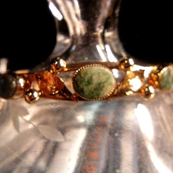 Asian Bracelet with Green Stones /Marked 20-12K G.F. /Unknown Maker/ Circa 20th Century - Fine Jewelry