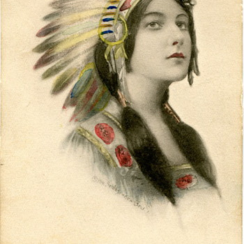 Indian Maiden Postcard 1911