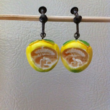 Vintage Lemon Earrings
