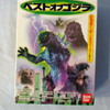 miniature Godzilla model set