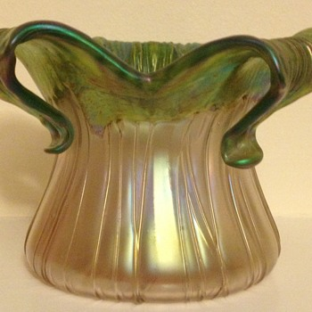 Kralik Gloria floriform rosebowl - Art Glass