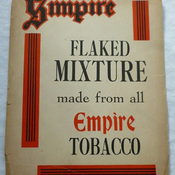 Favorite unknown tobacco cardboard sign!