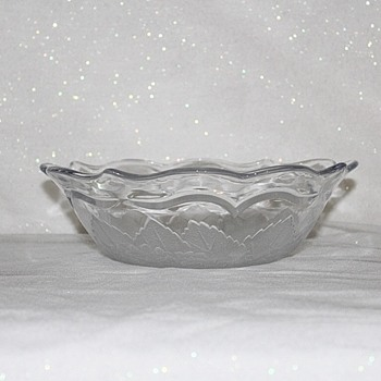 "FROSTED BOWL 9"" DIAMETER"