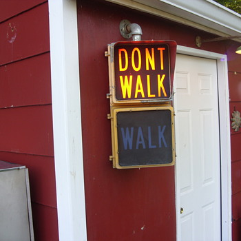 walk dont walk signal - Signs