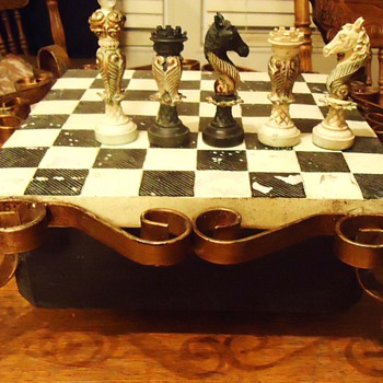 Chess set from?  I do not have a clue but would guess China or Asia - Games