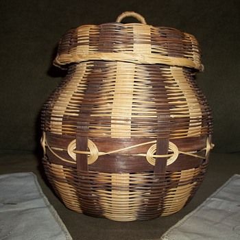 Cherokee Honeysuckle and White Oak Basket, Made By Emily Smith