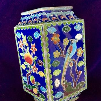 Small cloisonné vase