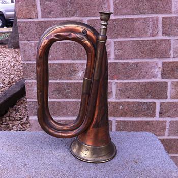 1917 Henry Potter & Co. Brass Bugle - Music Memorabilia