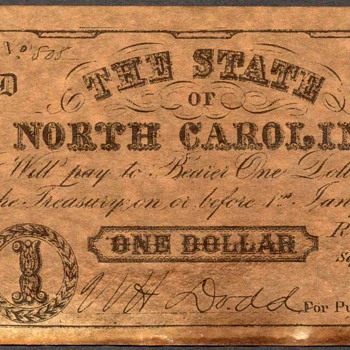 Confederate Currency - Novelty Note (North Carolina) - US Paper Money