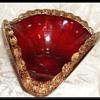 Ruby Red Art Glass Bowl -- Venetian//Murano