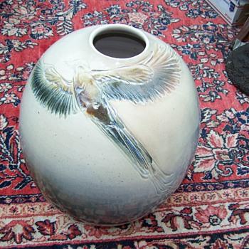 Sasha Makovkin Pottery Quetzal  Vase