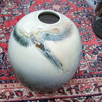 Sasha Makovkin Pottery Quetzal  Vase - Pottery