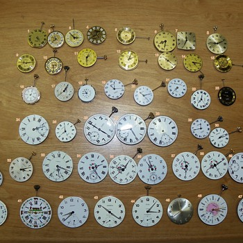 48 types of Arnex Time Inc Pocket Watch Movments - Pocket Watches