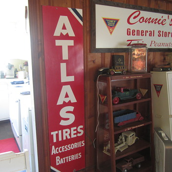 Atlas Tires metal self framed sign - Advertising