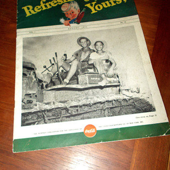 "1945 ""Refreshingly Yours"" New York Coca-Cola Bottling Newsletter"