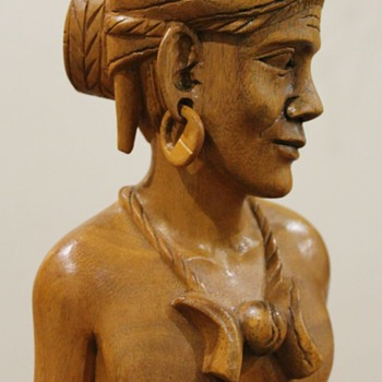Igorot Philippines Carved Bust - Asian