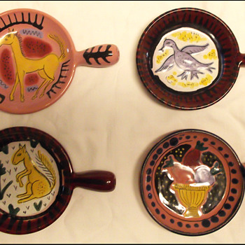 4 VALLAURIS RAMAKINS   - Art Pottery