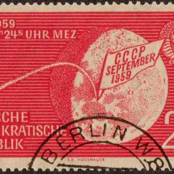 "1959 - E. Germany ""Lunik 2"" Postage Stamp - Stamps"
