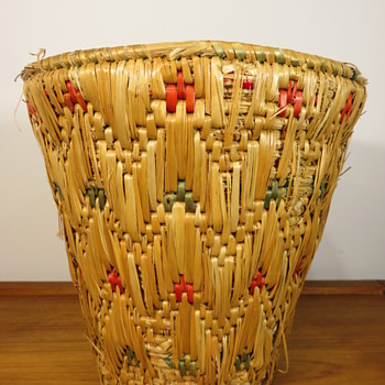 Possibly a Native American Woven Basket - Furniture