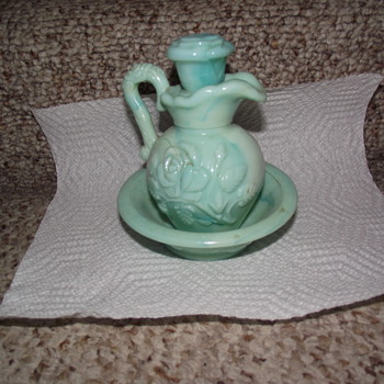 Light Blue Avon pitcher of some sort - Art Glass