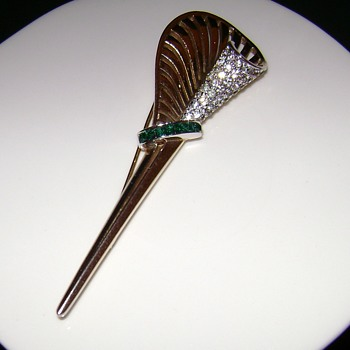 Signed Boucher Brooch - Costume Jewelry
