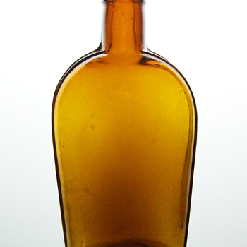 Late 1800&#039;s Strap Sided Flask - Bottles